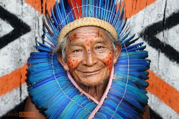 The village chief of the Dessana tribe in the Amazon, Brazil
