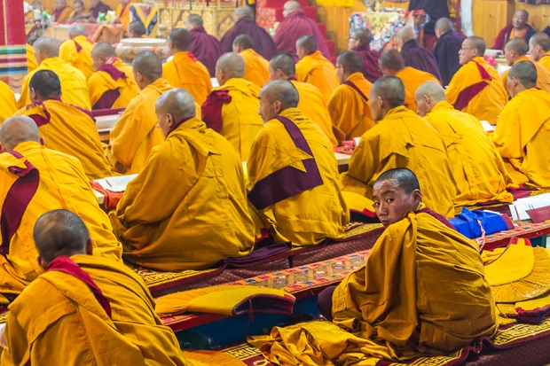 Monks in Bhutan.